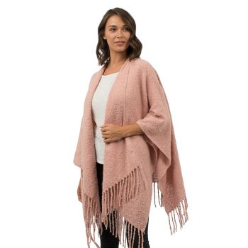 The Polka-Dot Palm Edenton NC, Fringe Wrap in Rose