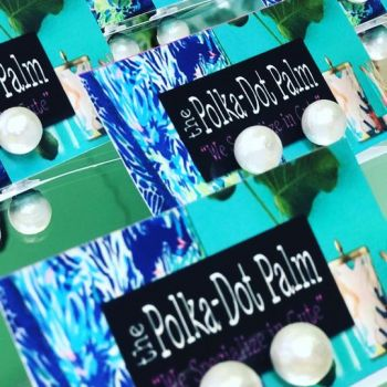 The Polka-Dot Palm Edenton NC, Cotton Pearl Studs
